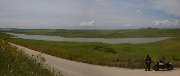 panoramica lago serra corvo  giro moto puglia